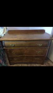 Antique dresser, solid wood