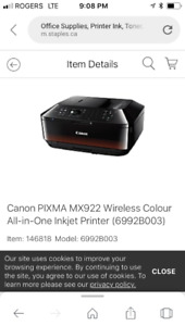 Brand new unopened in box Canon all in one printer