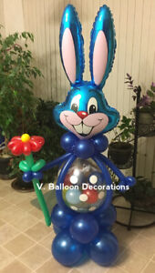 Easter bunny 5 feet high with surprise inside!