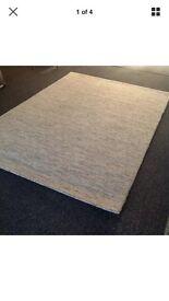 JOHN LEWIS RUG deep pile 100% wool BEIGE 2.40m x 1.70