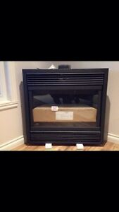 Natural gas fireplace can be converted to propane