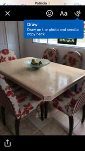 Solid wood dining table ..great condition