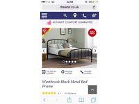 Double Westbrook black bed fram