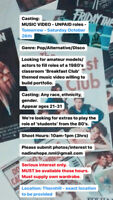 Casting for Music Video - UNPAID - TOMORROW - Sat Oct 26th