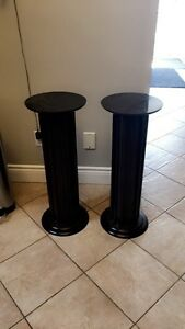 2 Dark Brown Wood Pillars
