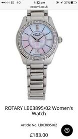 Women's silver rotary watch