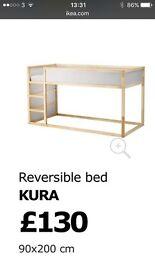 Ikea Kura Pine Kids Bed