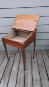 Antique Solid Wood Child's Slant Top Desk Great Entrance Table London Ontario image 2