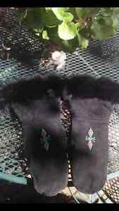 Leather beaded mitts for sale