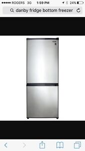 Almost New used 2 weeks - Danby Stainless steel fridge