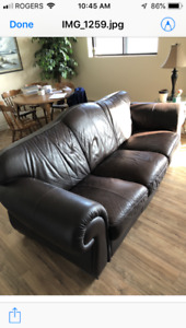 Leather sofa SOLD