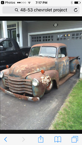 Looking for a 47-53 Chevrolet project truck