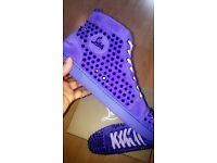 Authentic Christian Louboutin Veau Velours PERV MET Spikes Sneakers Size 10, not LV, Arena, Giuseppe