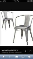 Looking for metal dining chairs