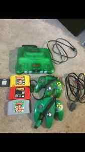 N64 with exspansion  2 controllers trade for a cell phone Edmonton Edmonton Area image 1