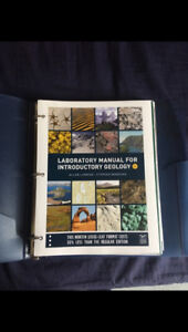 Laboratory Manual for Intro to Geology Textbook