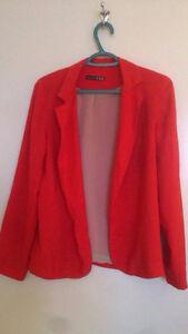 Women's red blazer, light