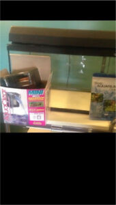 Fish Tank, Light, Filter and Accessories