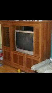 entertainment unit  and t.v