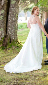 Custom lace and beaded wedding dress REDUCED!!