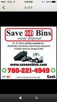 Bin Rental Edmonton and Area 780-221-4949