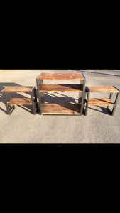 Meuble télé, meuble audio vidéo, acier, bois, sur mesure West Island Greater Montréal image 7
