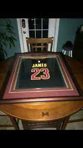 Magnificent  framed LeBron James jersey!