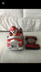 Paw patrol remote control fire truck