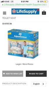 Aqua sense 3in1 raised toilet seat