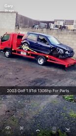 For Parts Only Golf 2003 Gt Tdi 1.9Tdi 130Bhp