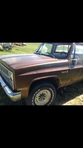 81 gmc 2500 4x4 make offer need gone