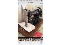 Vickers hand crank sewing machine