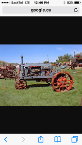 Looking for old metal wheel tractor