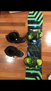 New Junior 140 Snowboard and Boots set