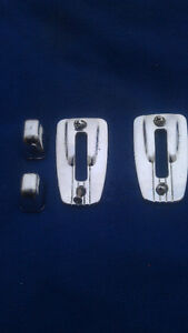 1968-72  Chevelle, GTO, Olds bench seat back lock plate & knob.