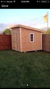 Get the BBQ put away before the snow comes! Sheds built on site