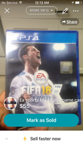 FIfa 18 for sale 50$