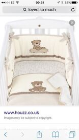 Loved so much nursery bedding, curtains and more.