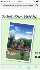 3 nuits au camping Vacances Bromont 5-6-7 août