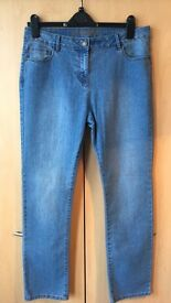 George (Asda) Size 14 Blue Straight cut jeans