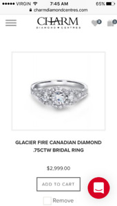 Engagement ring Glacier Fire Canadian Diamond extended warranty