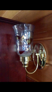 Stained Glass candle wall sconces