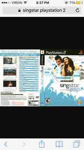 Singstar for play station 2,3 disks,2 mics  all included London Ontario image 1