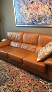 ITALIAN DESIGNER LEATHER COUCH SET! HIGH QUALITY!!!
