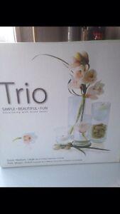 Glass vases trio - wedding/party/grad/shower/decor Strathcona County Edmonton Area image 1