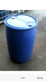 220 Litre/45 Gallon Plastic widemouth water butt/barrel/drums