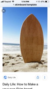 Looking for a used/old skim board