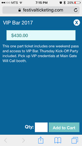 VIP Bar tickets to Dauphin's Country Fest