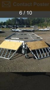 24 foot 4 place snowmobile trailer