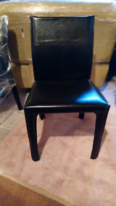 Dining Chair Set (4 or 2) - High End Real Hide Leather(Like New)